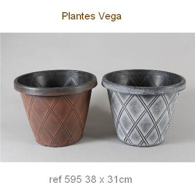 MACETA PVC DECORADA cono rombos 38x31 5,95
